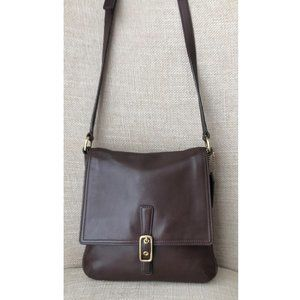 Coach Vintage Brown Leather Crossbody Purse 9592